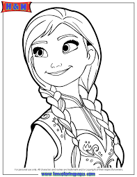 Small Picture Portrait Of Anna Coloring Page H M Coloring Pages