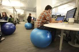 yoga ball desk chair corporate office health wellness