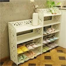 diy 3 tier shoe rack white pvc carving shoe rack shelf storage home organizer 3 4