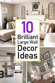 large wall decor living room
