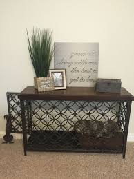 Wood dog crates furniture Living Room Dog Turned Console Table Into Decorative Dog Crate New Beginning Home Designs Turned Console Table Into Decorative Dog Crate Keep Calm And