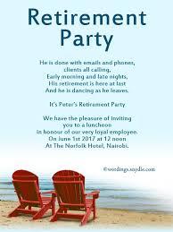 Retirement Luncheon Invitation Retirement Party Invite Wording Akba
