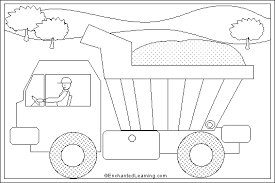 Dump Truck Online Coloring Page