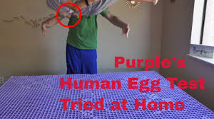 mattress king commercial. Purple Mattress Commercial Human Egg Drop Test (Does The Raw Break?) King E