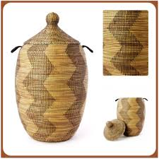 woven basket with lid. African Basket W/Lid Woven With Lid I