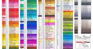Touch Marker Chart Touch Marker Color Charts Ohuhu Markers Sketch Markers