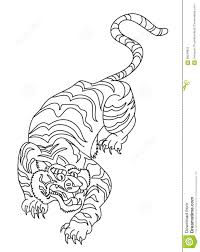 japanese tiger tattoo drawing. Brilliant Drawing Download Japanese Tiger Tattoo Design Vector Stock  Illustration Of  Backgrounddrawing Drawing 99548953 For Drawing G