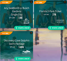 today only deep s on seaworld and busch gardens tickets pizza in motion