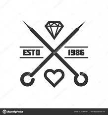 шаблон логотипа студии татуировки векторное изображение