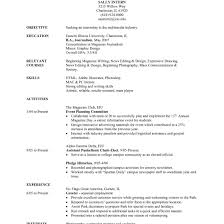 Internship Resume Sample For College Students With No Experience