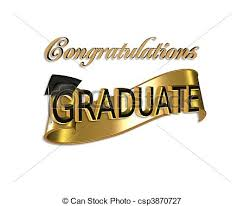 Graduation Congratulations Gold And Black Digital Art With
