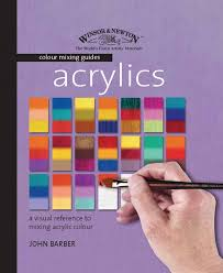 Acrylic Color Mixing Chart Acrylics Winsor Newton Colour Mixing Guides Amazon Co