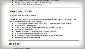 examples of interests on a resume design templates print market