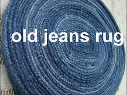 use old denim jeans to maje this rug carpet coaster old jeans craft