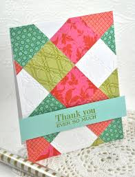 243 best Handmade Paper quilted cards images on Pinterest | Block ... & Make It Monday No-Sew Quilted Cards - Happy Birthday Card by Dawn McVey for  Papertrey Ink (April Adamdwight.com
