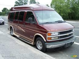 1998 Dark Carmine Red Metallic Chevrolet Chevy Van G10 Passenger ...