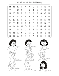 Word Family Coloring Pages Word Search Puzzle Family Download Free Word Search Puzzle