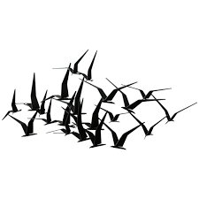 wall art ideas design high quality materials metal wall art birds in flight simply minimalist interior black white colors monoch amazing handcrafted metal