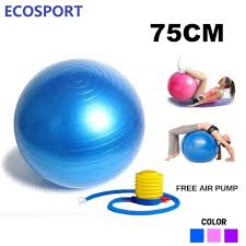 Yoga Ball Size Chart Ecosport High Quality Gym Fitness Ball Anti Burst Yoga Exercise Ball 75cm 65cm 55cm Free Hand Pump