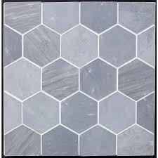 grey bardiglio marble hexagon 4 honed