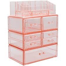 sorbus makeup storage case set large display drawers