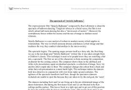 strictly ballroom essay gcse miscellaneous marked by teachers com document image preview
