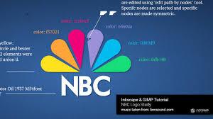 Nbc Design How To A Draw Logo Using Inkscape Nbc Logo Tutorial