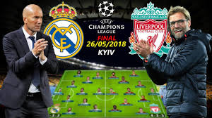 UCL FINAL 2018 KYIV | REAL MADRID vs LIVERPOOL | LINEUPS PREDICTION Ft.  RONALDO, SALAH... - YouTube