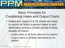 Purpose Of Intake And Output Chart Unit 36 Intake And Output Charts Basic Principles For