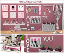 """Tania"""" Girly Clutter. Sims 4 Custom Content."""