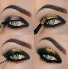 golf and black eyeshadow