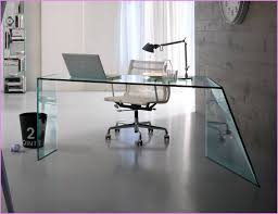 large glass office desk. glass top desk home office modern white and large