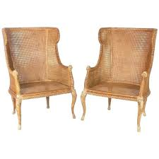 wicker wingback chair wicker chair pair of mid century caned chairs at rattan wing back chairs
