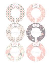Custom Baby Closet Dividers Girl Pink Grey Floral Nursery Closet Dividers  Baby Shower Gift Baby Clothes