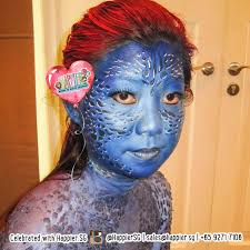 mystique face paint makeup artist