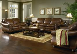 Living Room Color Schemes With Brown Leather Furniture New At