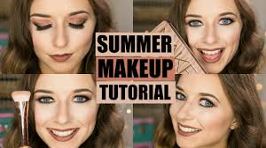 summer makeup tutorial 2016 baking the skin pink smokey eyes ad