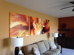 Painting Of Living Room Panel Large Abstract Painting Art Canvas Print Triptych Living Room