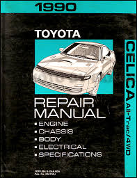1990 toyota celica all trac 4wd wiring diagram manual original 1990 toyota celica all trac 4wd repair shop manual original