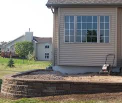 Small Picture How to Build a Raised Patio with Retaining Wall Blocks
