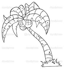 Printable Palm Tree Palm Tree Coloring