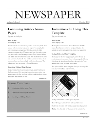 Editable Newspaper Template Word Best Photos Of Newspaper Layout Template For Word