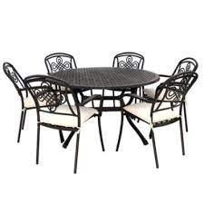 6 seater metal garden furniture round