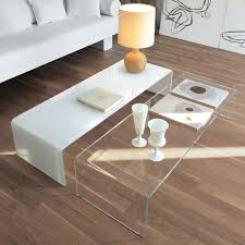 modern glass furniture. bridge curved glass coffee table by sovet italia modern furniture