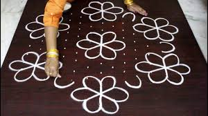 Step By Step Kolam Designs With Dots 13 Dots Sankranthi Muggulu For 2018 Pongal Kolam Designs