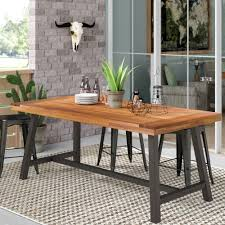 17 stories polanco solid wood dining table reviews wayfair