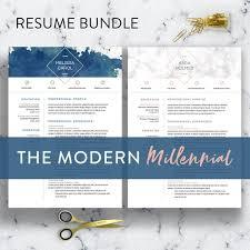 Modern Resume Style Esty 2 Styles Modern Resume Template Word 1 3 Page Resume Cv Etsy