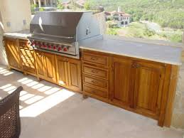 outdoor kitchen wood cabinets photo 8