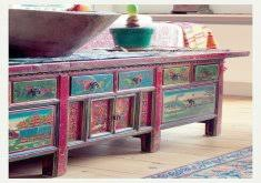 bohemian style furniture. Attractive Boho Style Furniture Painting Bohemian