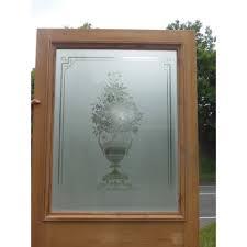singular etched glass door ed original etched glass door exterior ext